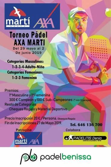 Grupo Martí является спонсором грядущего турнира по ракетболу в Бениссе